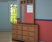 3D model of Ashley Benjamin Dresser & Mirror