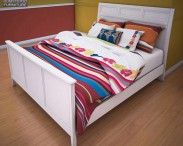 3D model of Ashley Caspian Panel Bed
