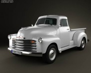 3D model of Chevrolet Advance Design Pickup 1951