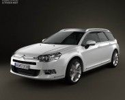 3D model of Citroen C5 Tourer 2011