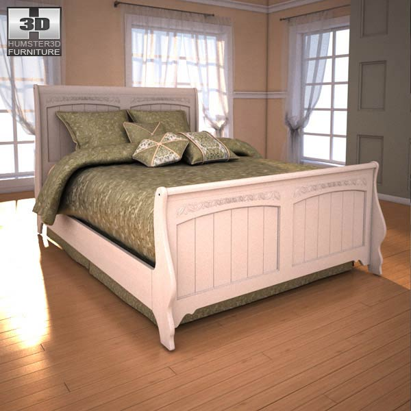 ashley cottage retreat sleigh bedroom set 3d model humster3d