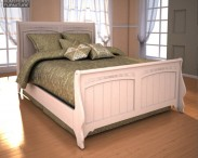 3D model of Ashley Cottage Retreat Full Sleigh Bed