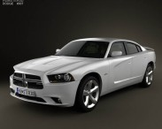 3D model of Dodge Charger (LX) 2011 with HQ Interior