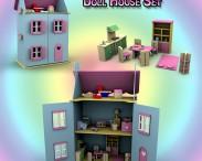 3D model of Doll House Set 01