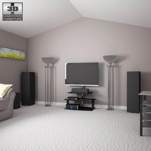 Home theater set 03 3d model humster3d Home 3d model