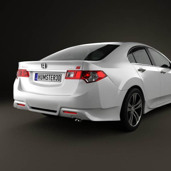 Honda Accord Sedan Type S 2011 3d car model