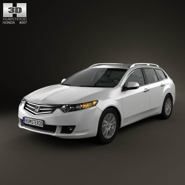 Honda Accord Tourer 2009 3d car model