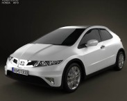 3D model of Honda Civic TypeR 2007