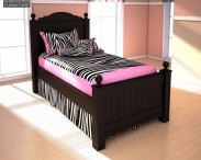 3D model of Ashley Jaidyn Twin Poster Bed
