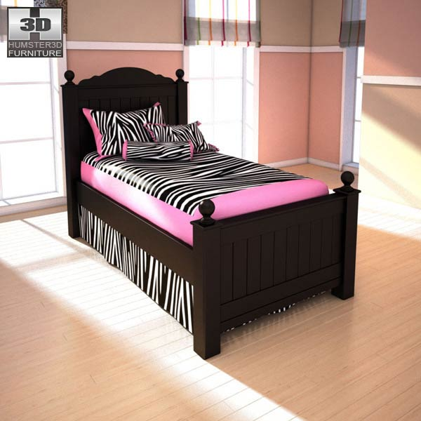 Ashley Jaidyn Twin Poster Bed 3d Model Humster3d