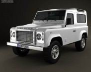 3D model of Land Rover Defender 90 Station Wagon 2011