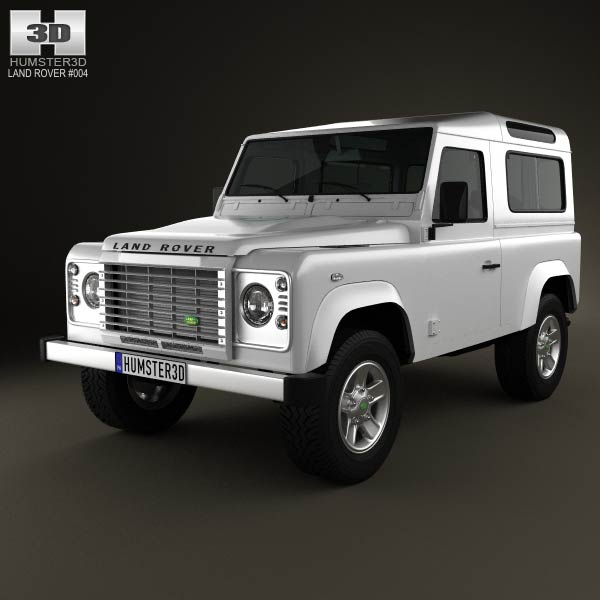 Land Rover Defender 90 Station Wagon 2011 3d car model