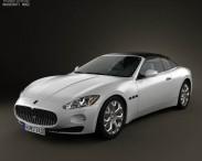 3D model of Maserati GranCabrio 2011