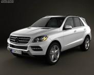 3D model of Mercedes-Benz M-Class 2012