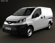 3D model of Nissan NV200 2010