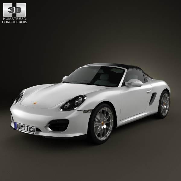 3D model of Porsche Boxster Spyder 2011