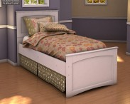 3D model of Ashley Sandhill Panel Bed