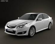 3D model of Subaru Legacy (Liberty) sedan 2010
