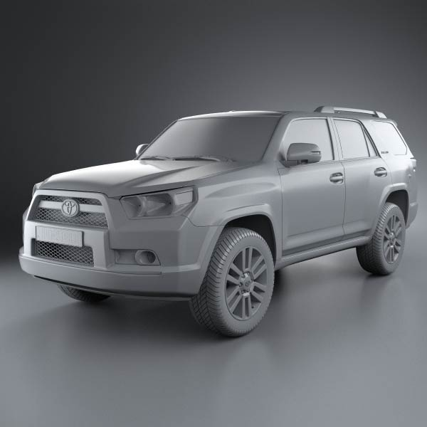 toyota 4runner 2011 3d model humster3d. Black Bedroom Furniture Sets. Home Design Ideas