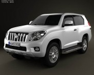 3D model of Toyota Land Cruiser Prado 3-door 2011