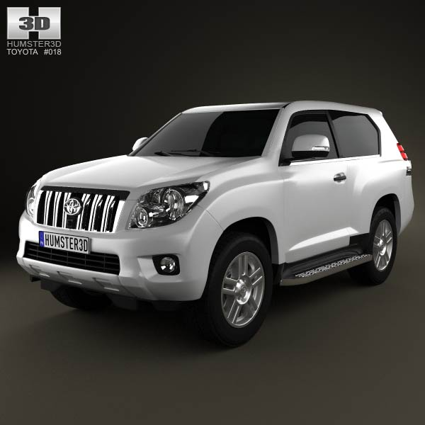 Toyota Land Cruiser Prado 3-door 2011 3d car model