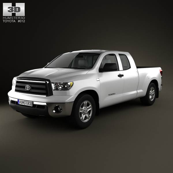 toyota tundra double cab 2011 3d model humster3d. Black Bedroom Furniture Sets. Home Design Ideas