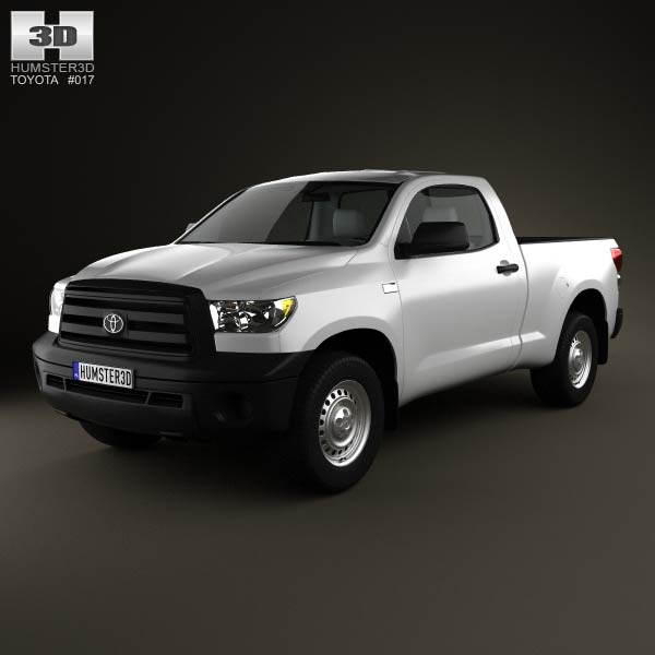 toyota tundra regular cab 2011 3d model humster3d. Black Bedroom Furniture Sets. Home Design Ideas