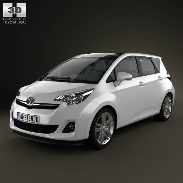 3D model of Toyota Ractis (Verso S) 2012