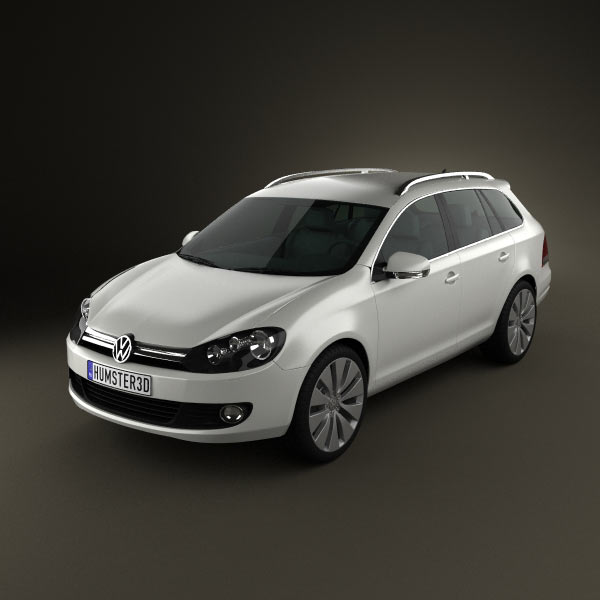 VolksWagen Golf Variant 2010 3d car model