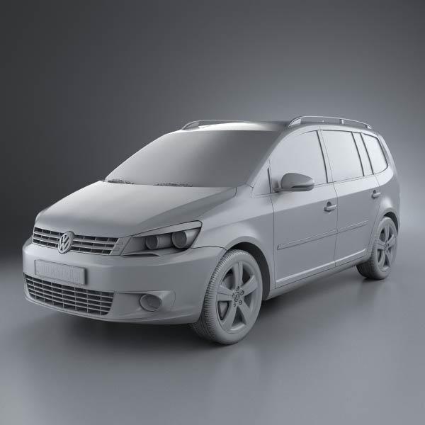 volkswagen touran 2011 3d model humster3d. Black Bedroom Furniture Sets. Home Design Ideas