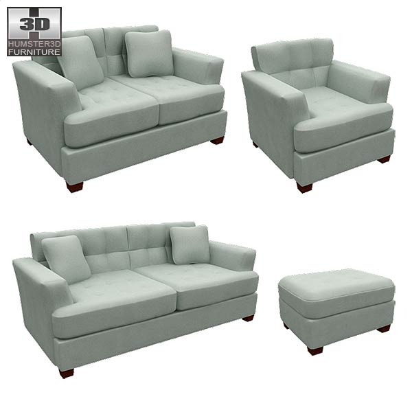 Ashley Zia – Spa Living Room Set 3d model