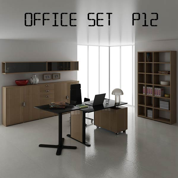 Office Set P12 3d model