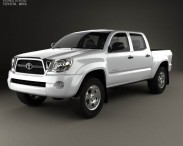 3D model of Toyota Tacoma Double Cab 2011