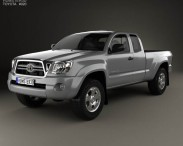 3D model of Toyota Tacoma Access Cab 2011