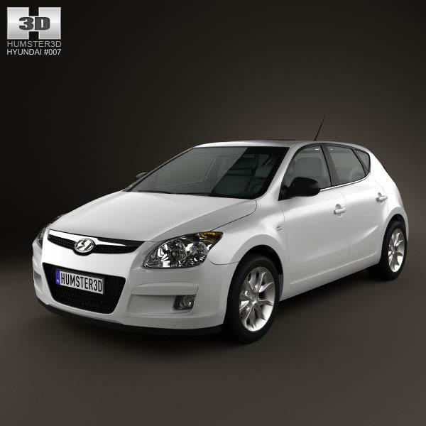 3D model of Hyundai i30 2010