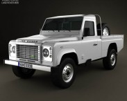 3D model of Land Rover Defender 110 High Capacity Pickup 2011