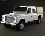 3D model of Land Rover Defender 130 High Capacity Double Cab PickUp