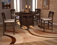 3D model of Ashley Lynx Extension Pub Table & Barstools