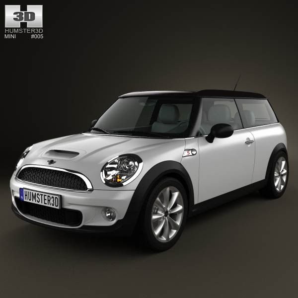3D model of Mini Cooper S Clubman 2011