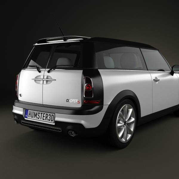 mini cooper s clubman 2011 3d model humster3d. Black Bedroom Furniture Sets. Home Design Ideas