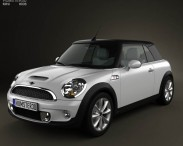 3D model of Mini Cooper S Convertible 2011