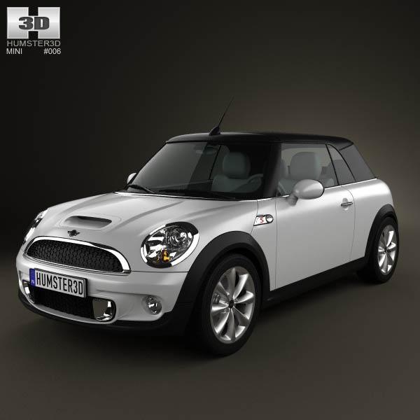 3D model of Mini Cooper S Convertible 2011