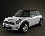 3D model of Mini Cooper S hardtop 2011