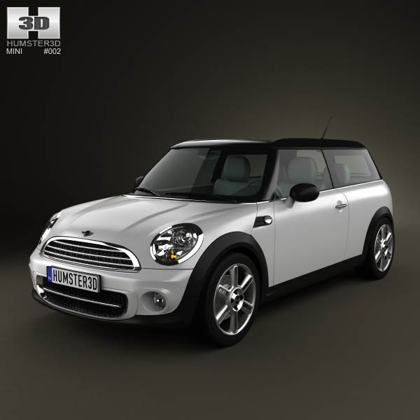3D model of Mini Cooper clubman 2011