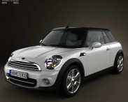 3D model of Mini Cooper convertible 2011