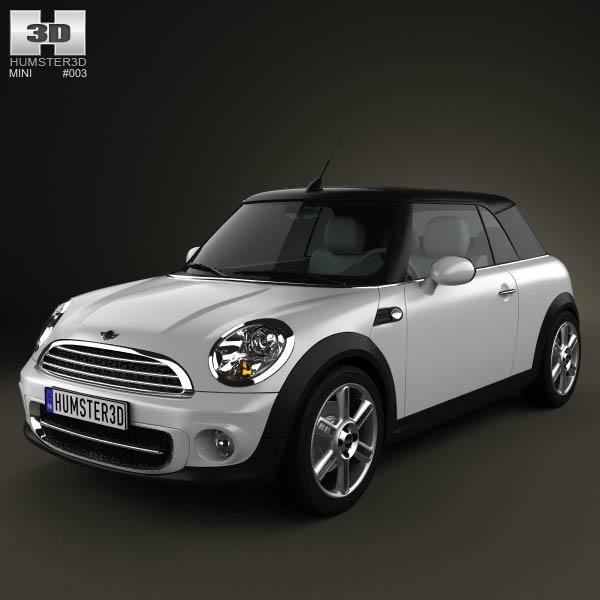 3D model of Mini Cooper convertible 2011