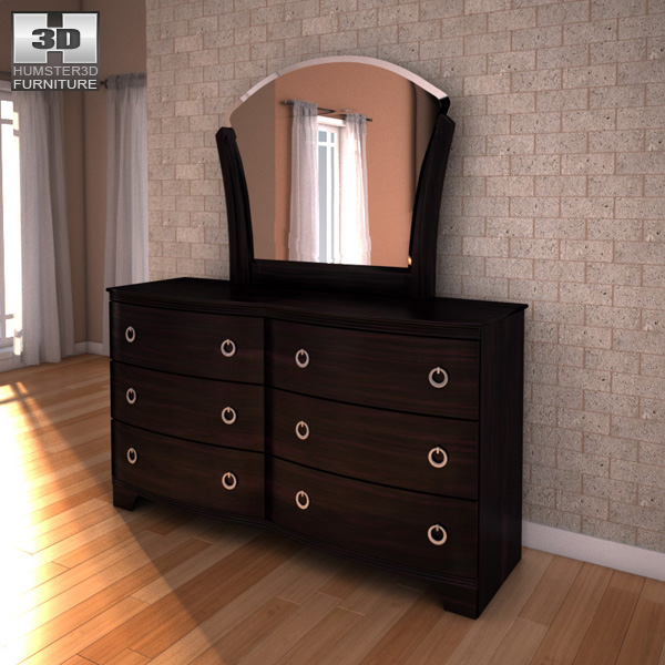 Pinella Bedroom Set: Ashley Pinella Sleigh Bedroom Set 3D Model