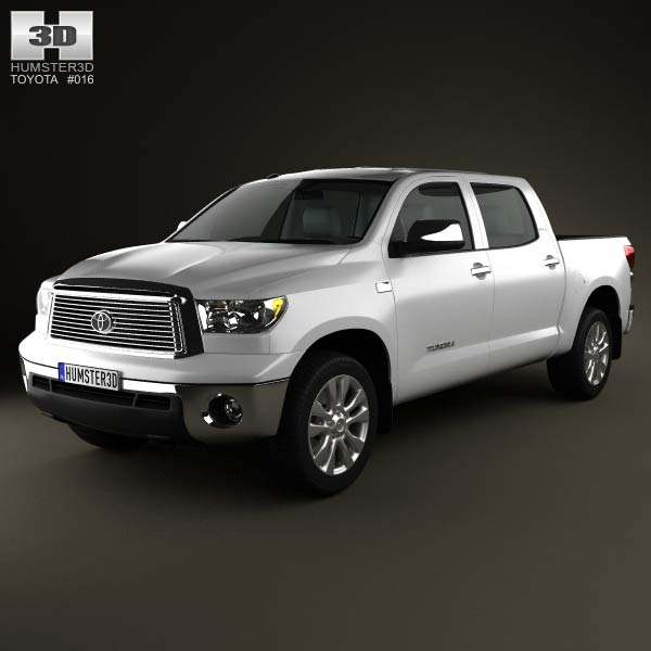 toyota tundra crew max 2011 3d model humster3d. Black Bedroom Furniture Sets. Home Design Ideas