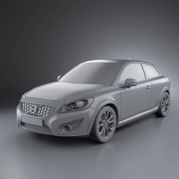 volvo c30 2011 3d model humster3d. Black Bedroom Furniture Sets. Home Design Ideas