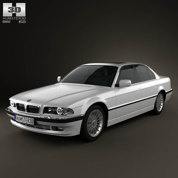 BMW 7 series e38 1998 3d car model